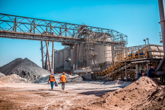 Workers-walking-towards-cement-plant