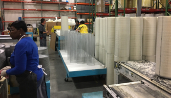 Nordic Air Filtration production team, producing first order coming from Camden