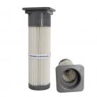 Lamellenfilterpatrone-mit-offenem-Kopf-und-quadratischer-Verschlusskappe-Zement-nordic-air-filtration